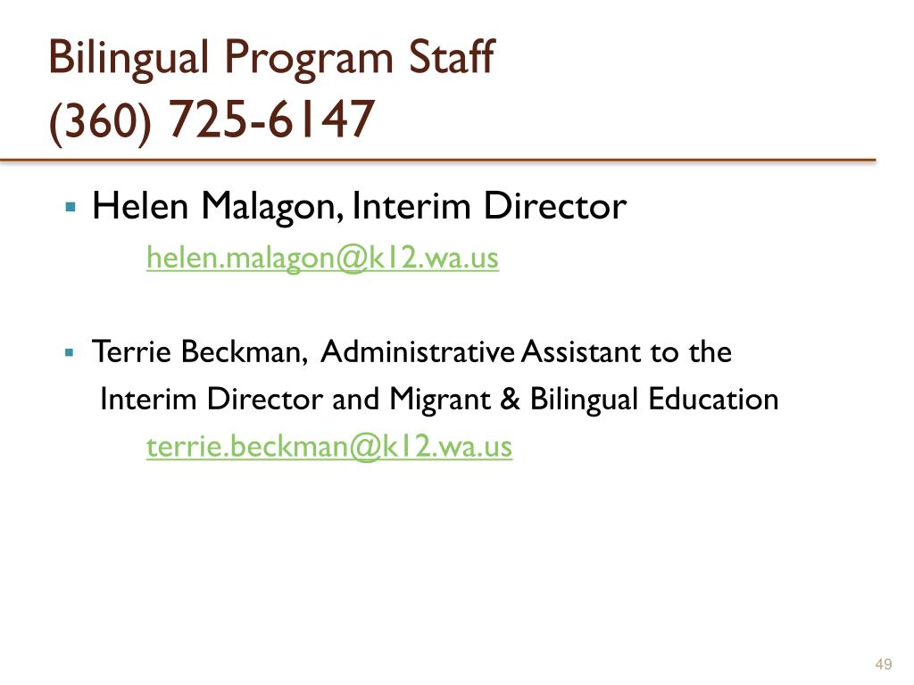 Bilingual Program Staff