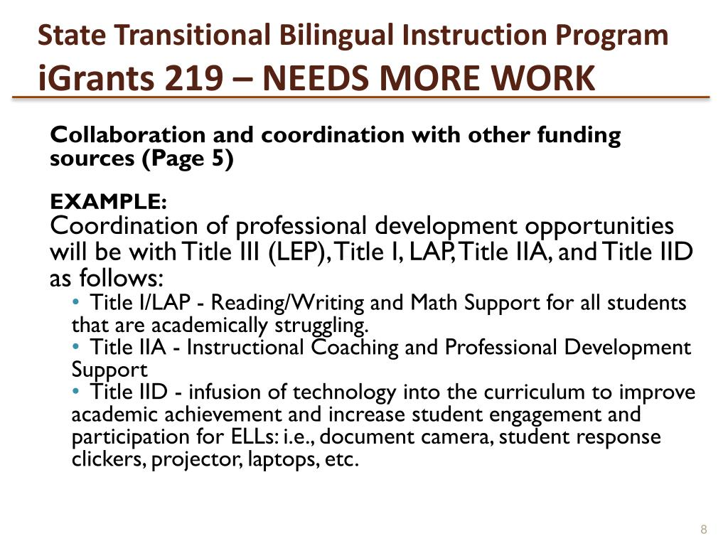 State Transitional Bilingual Instruction Program