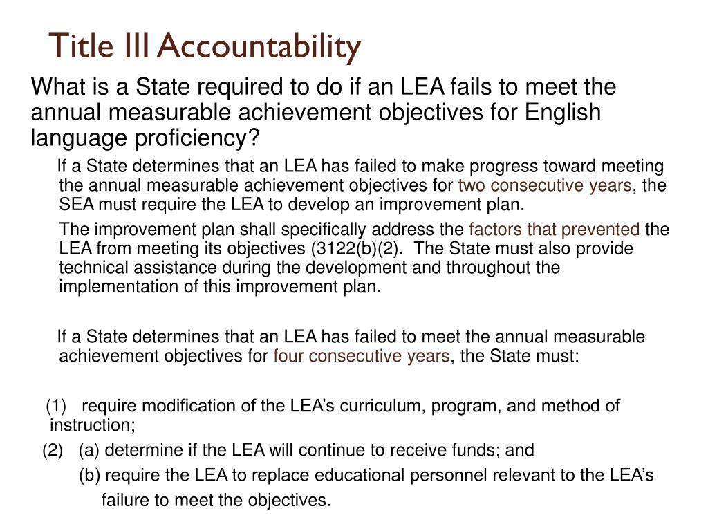 Title III Accountability