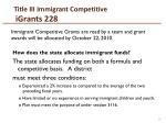 title iii immigrant competitive igrants 228