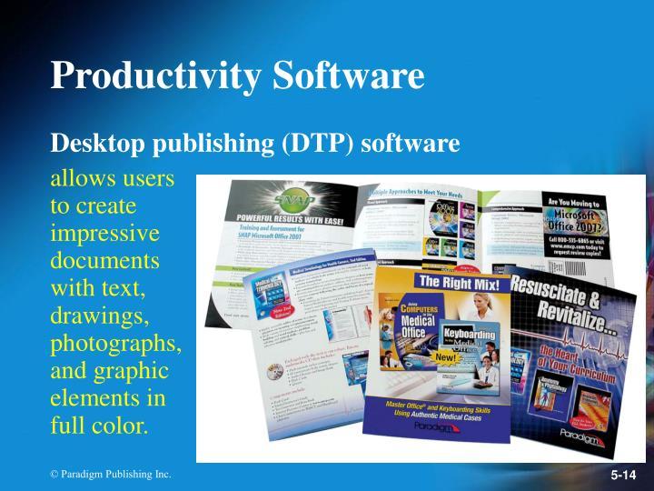Desktop publishing (DTP) software