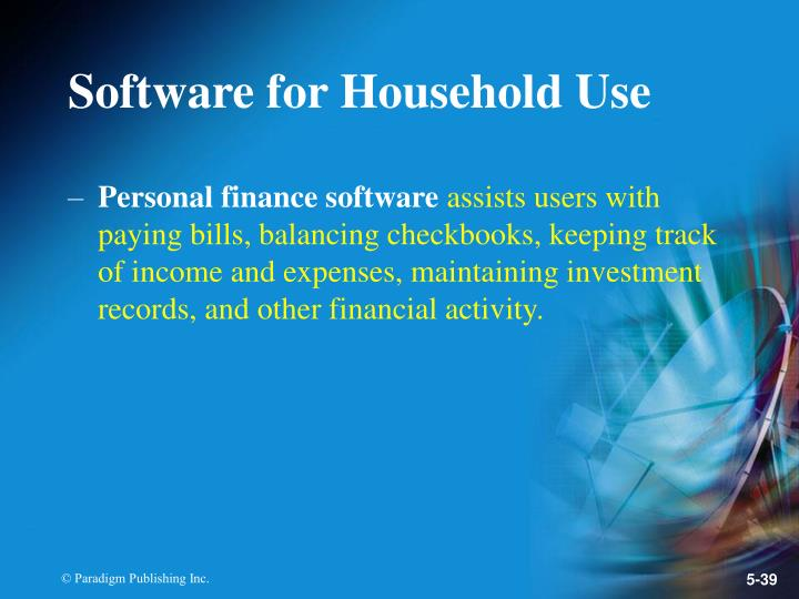 Software for Household Use