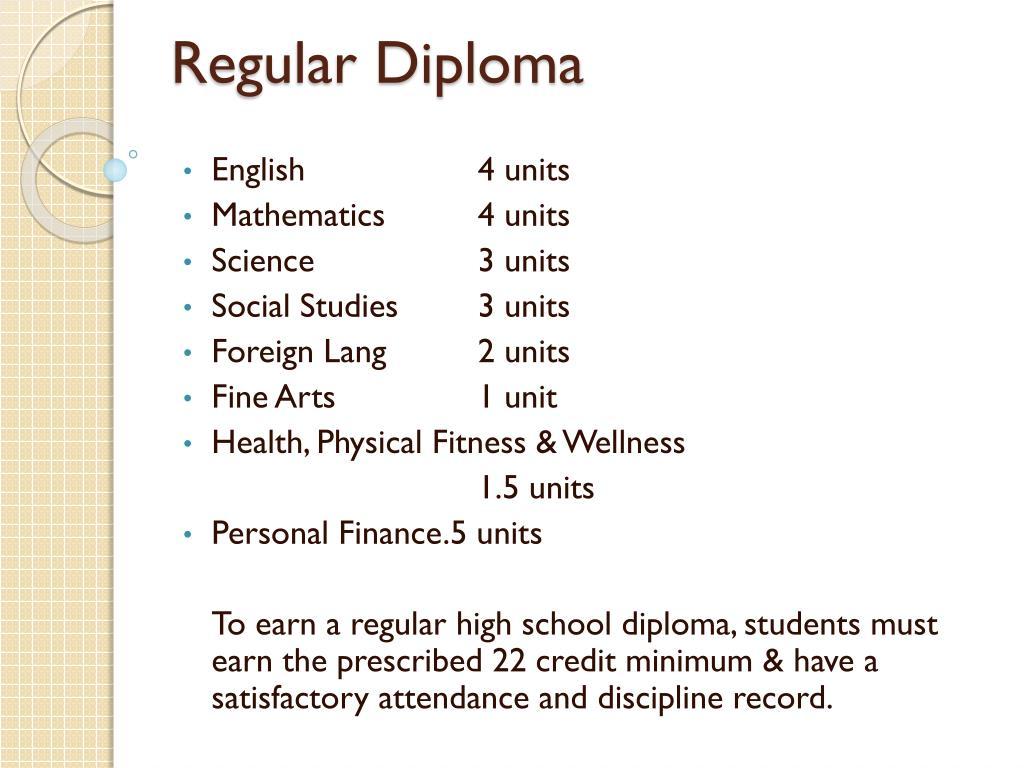 Regular Diploma