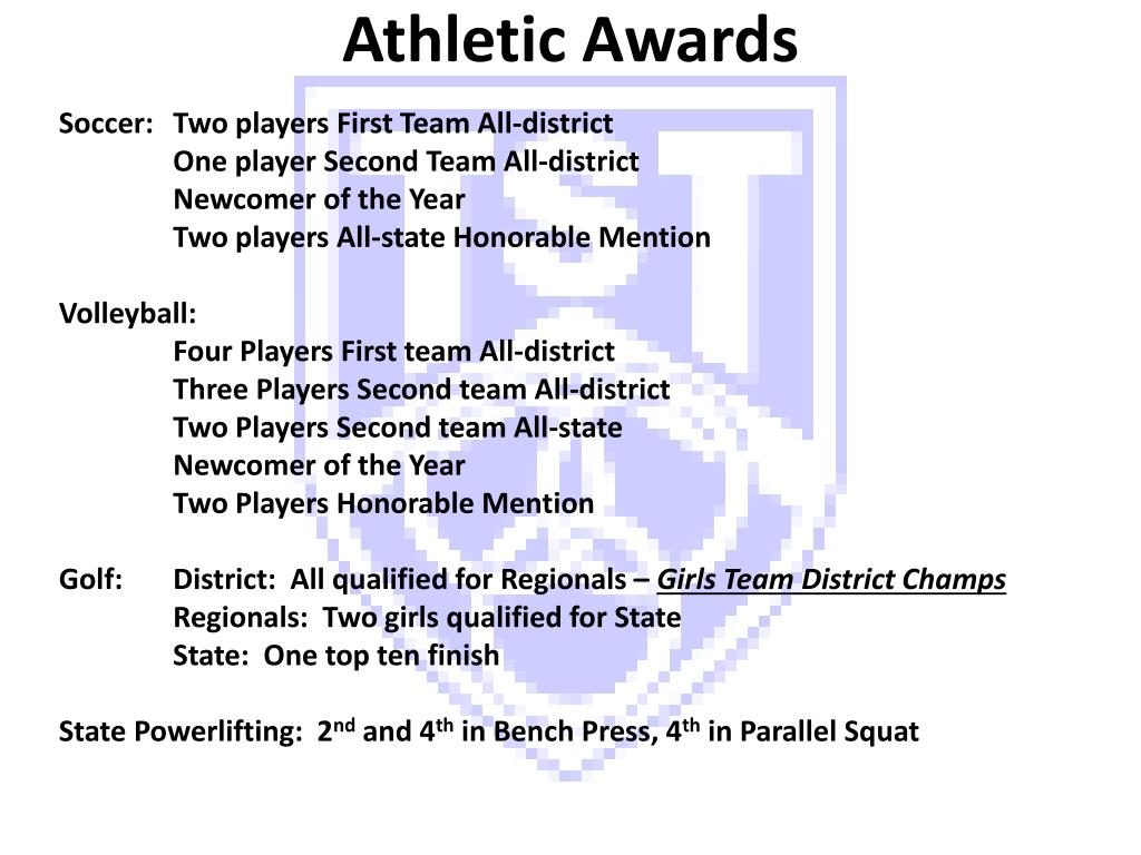Athletic Awards