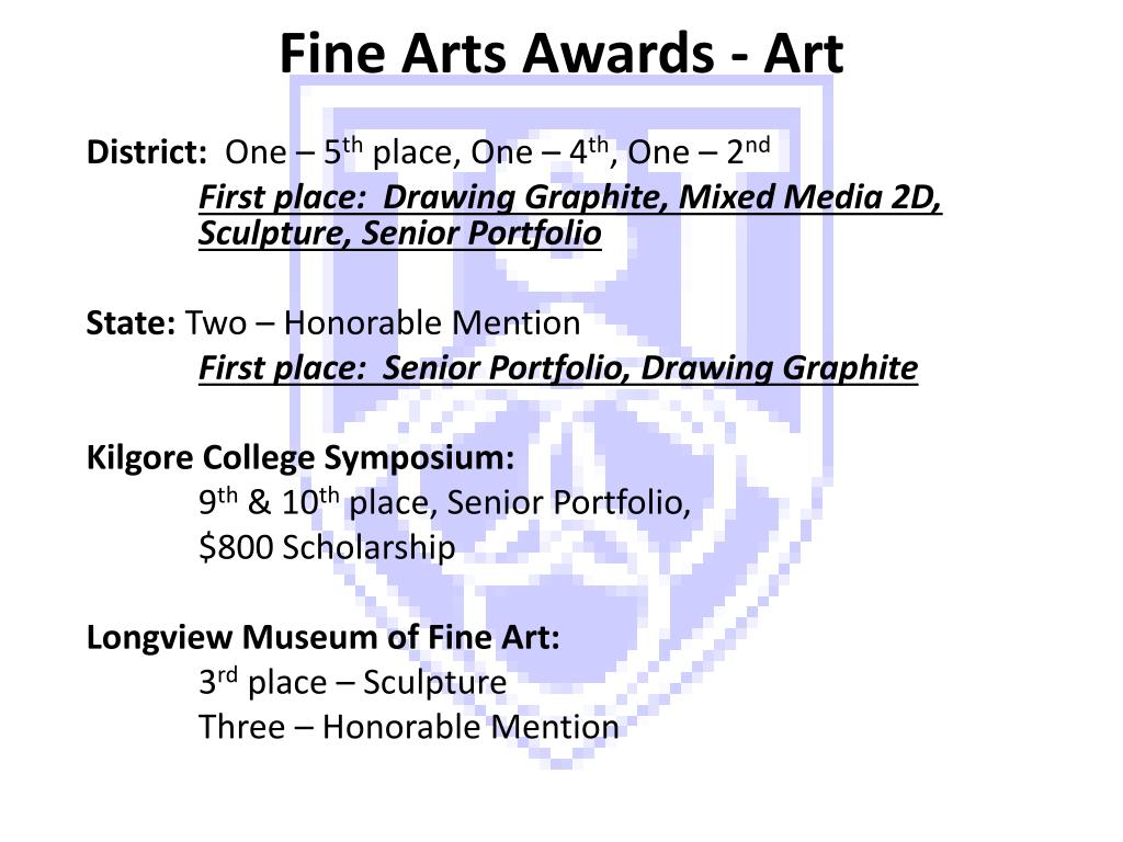 Fine Arts Awards - Art