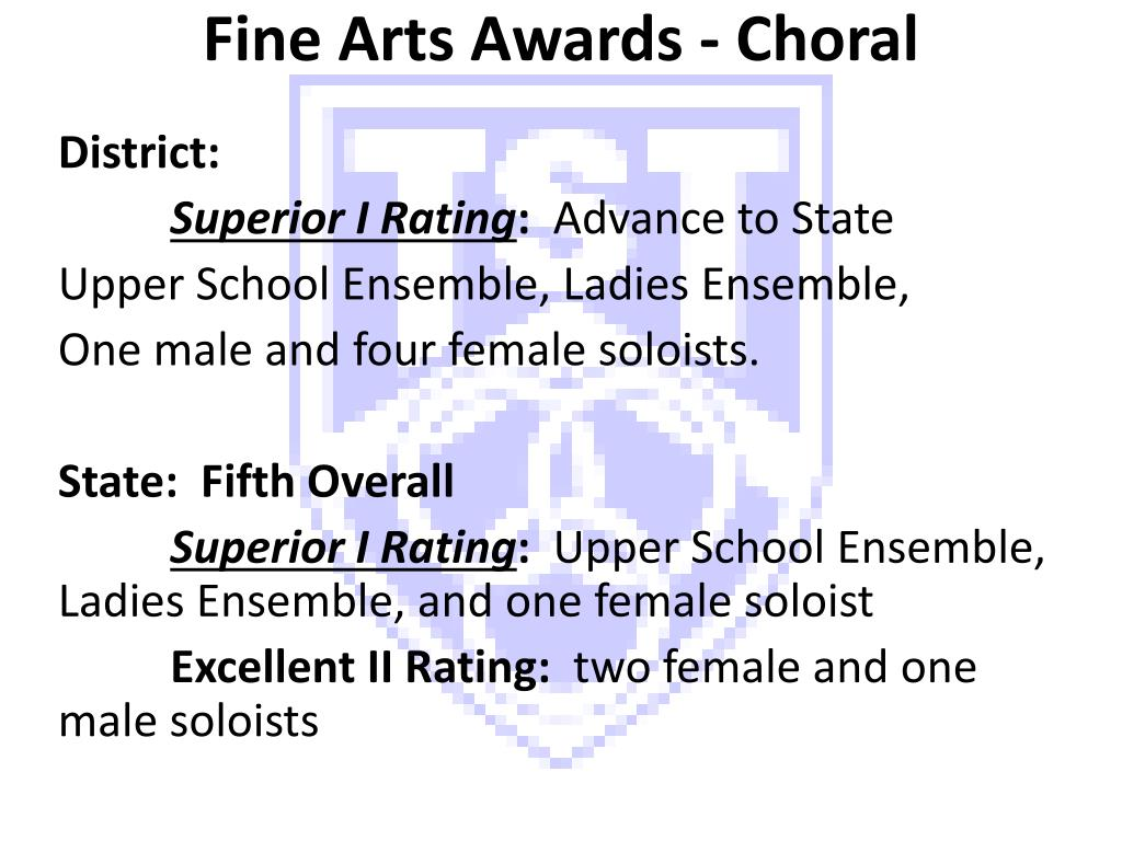 Fine Arts Awards - Choral
