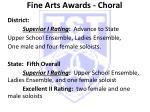 fine arts awards choral