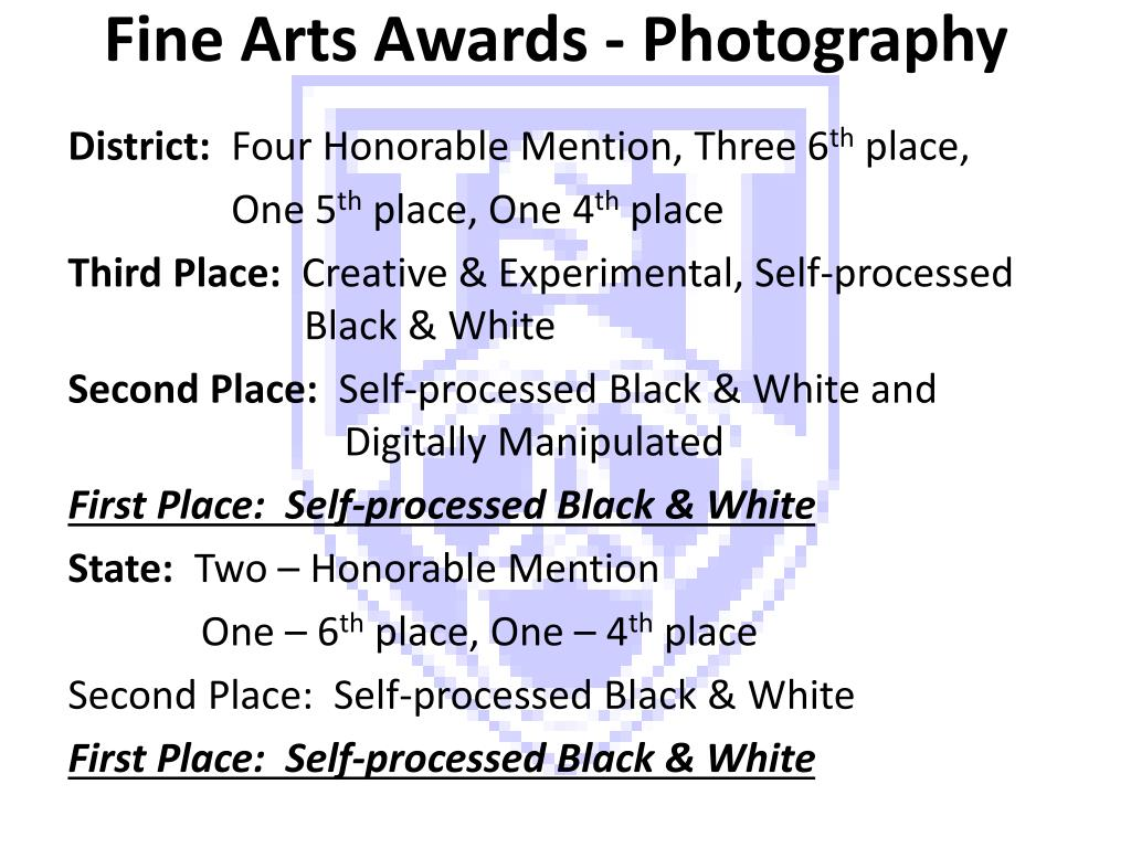 Fine Arts Awards - Photography