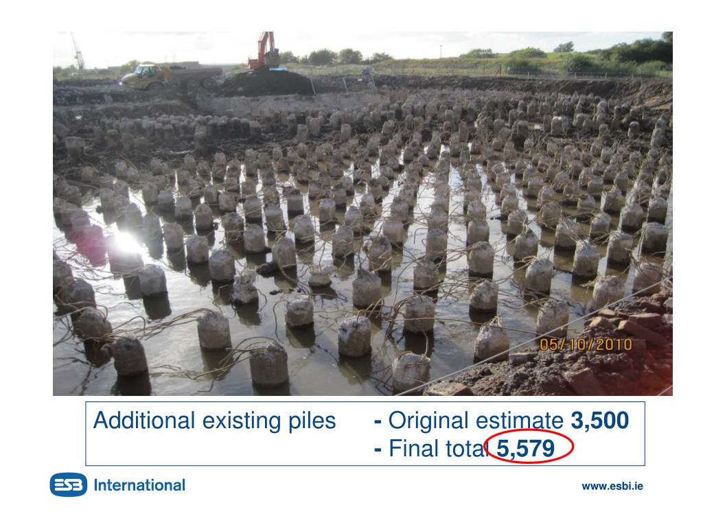 Additional existing piles
