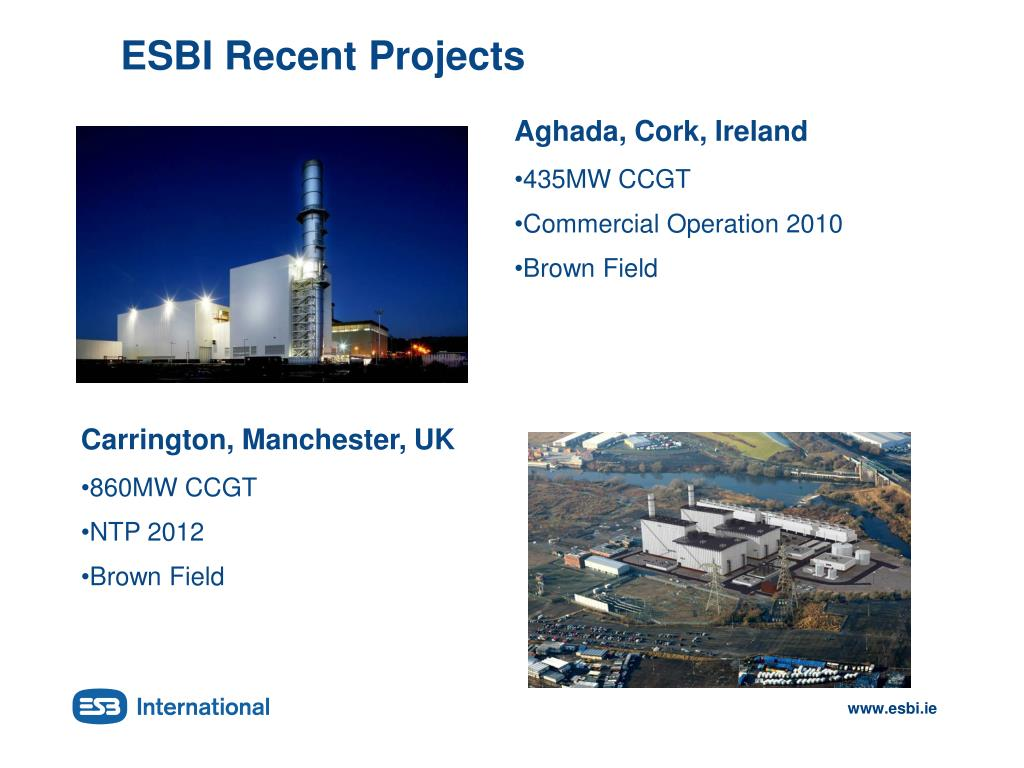 ESBI Recent Projects