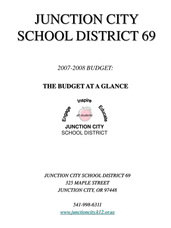 JUNCTION CITY SCHOOL DISTRICT 69