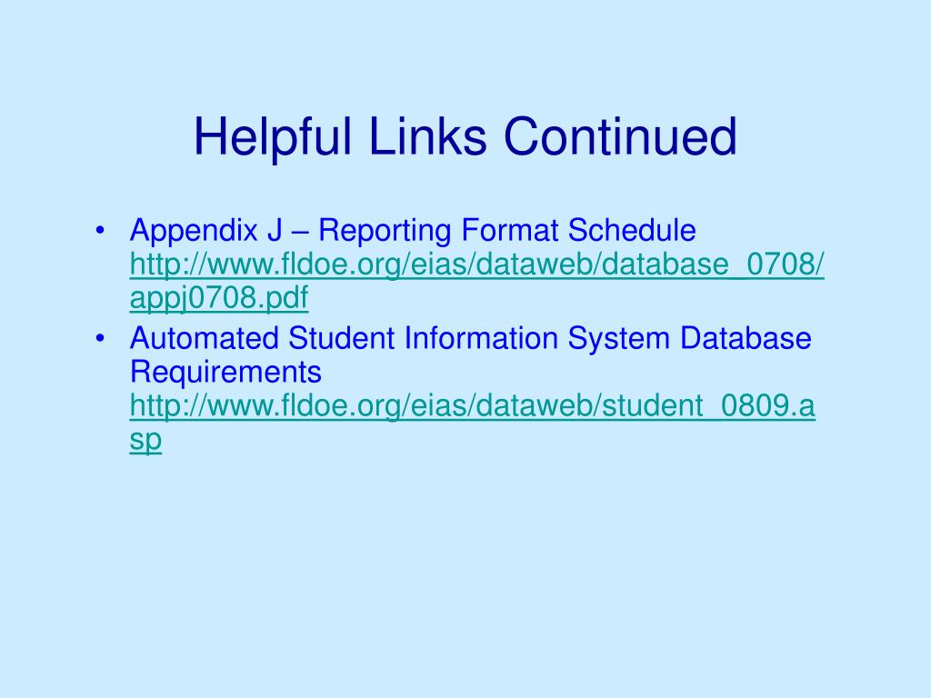 Helpful Links Continued
