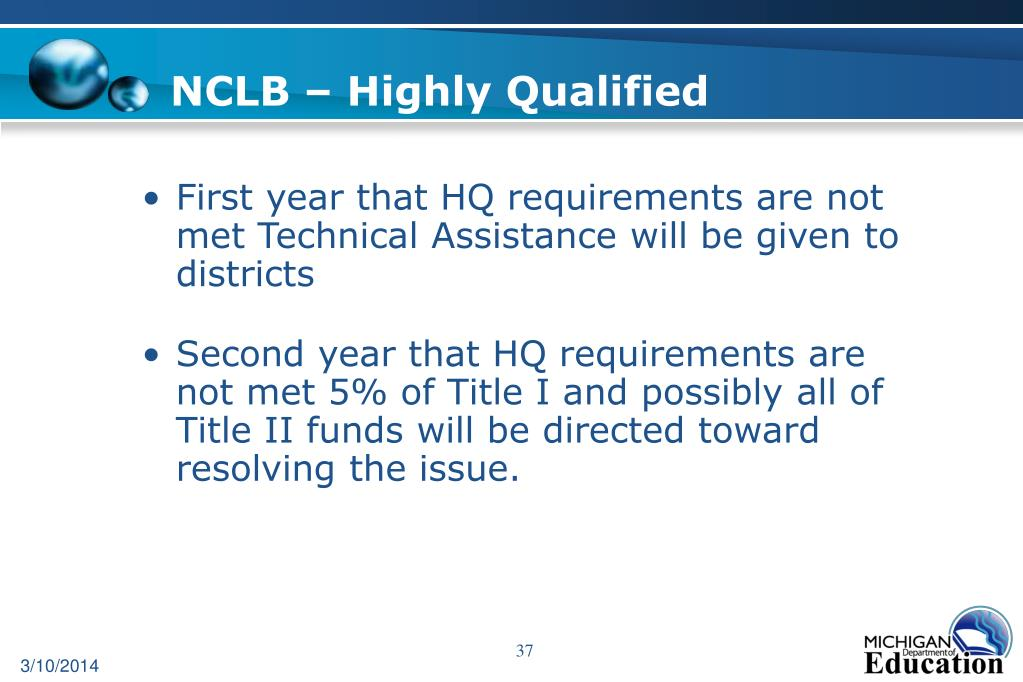 NCLB – Highly Qualified