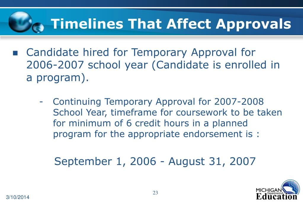 Timelines That Affect Approvals