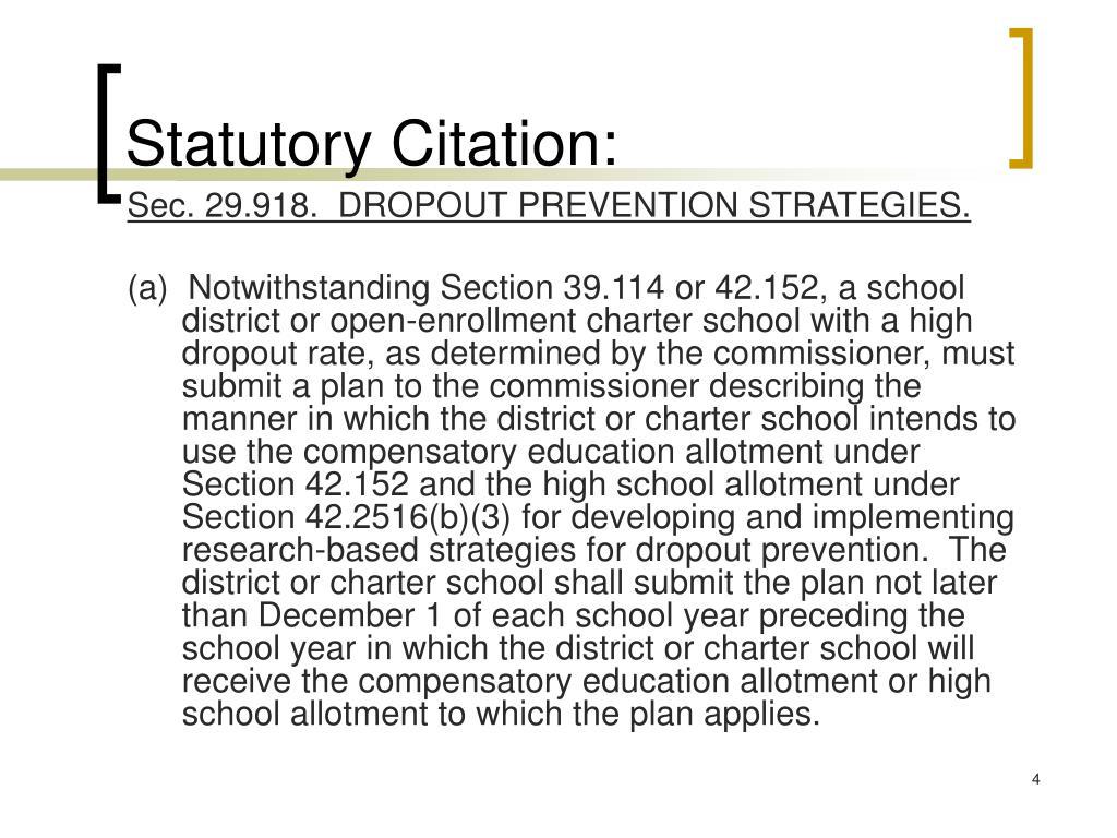 Statutory Citation: