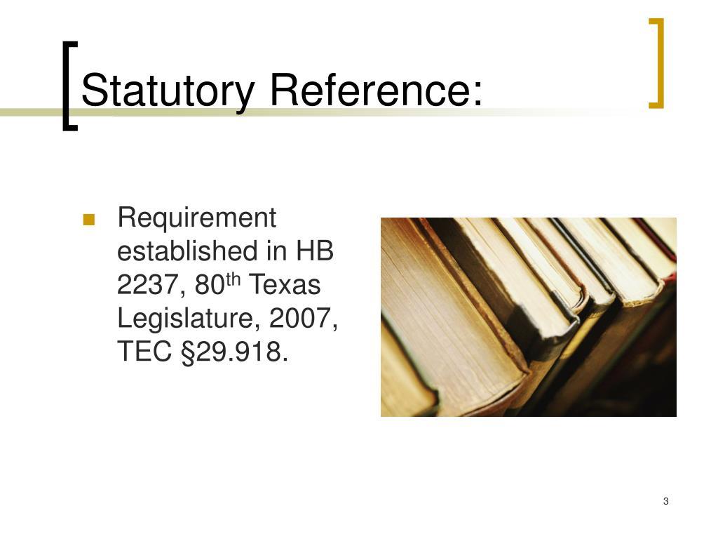 Statutory Reference: