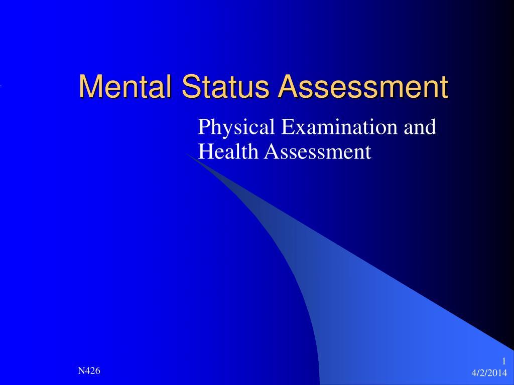 Mental Status Assessment PowerPoint Presentation
