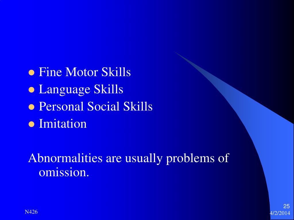 Ppt mental status assessment powerpoint presentation for Fine motor skills assessment checklist