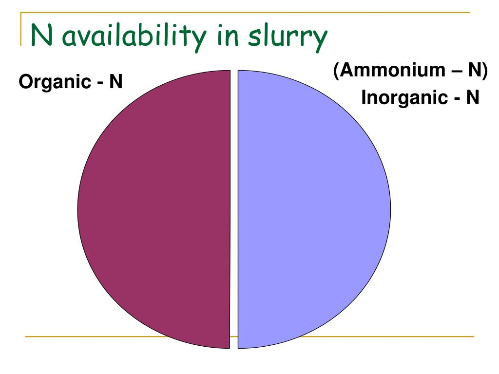 N availability in slurry
