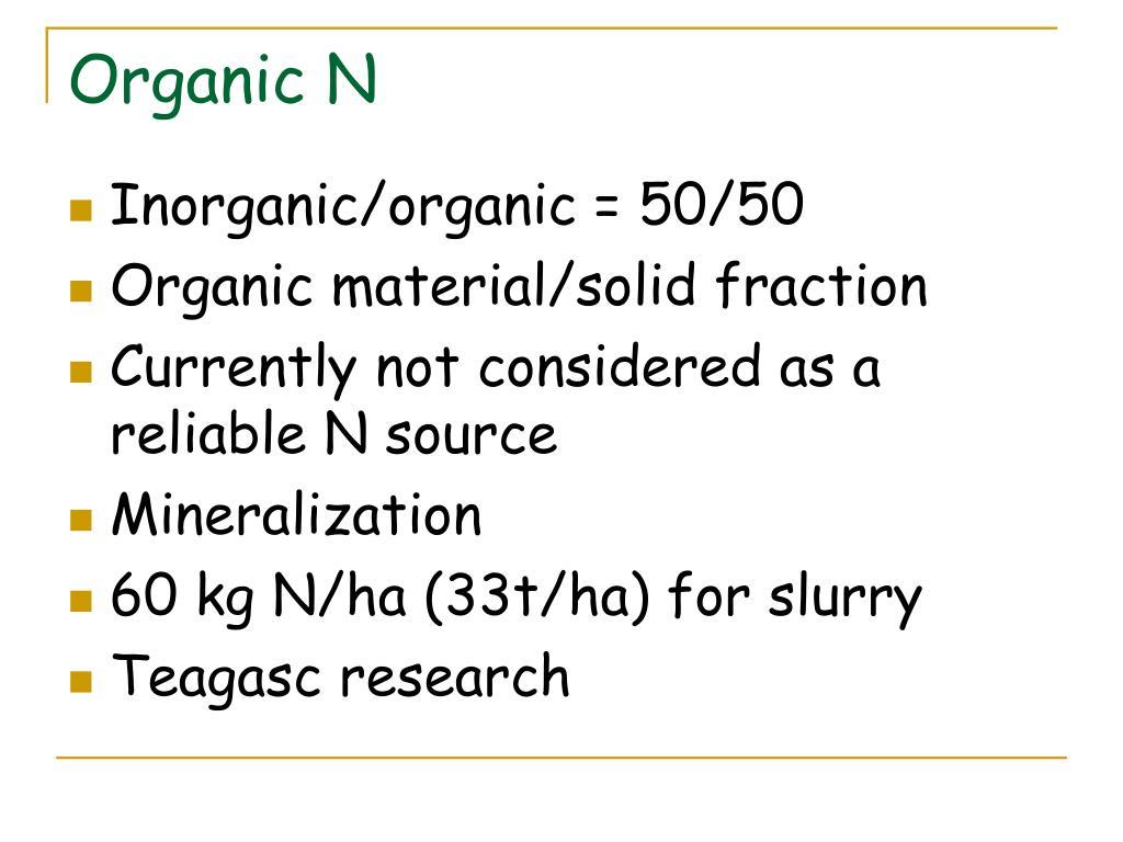 Organic N