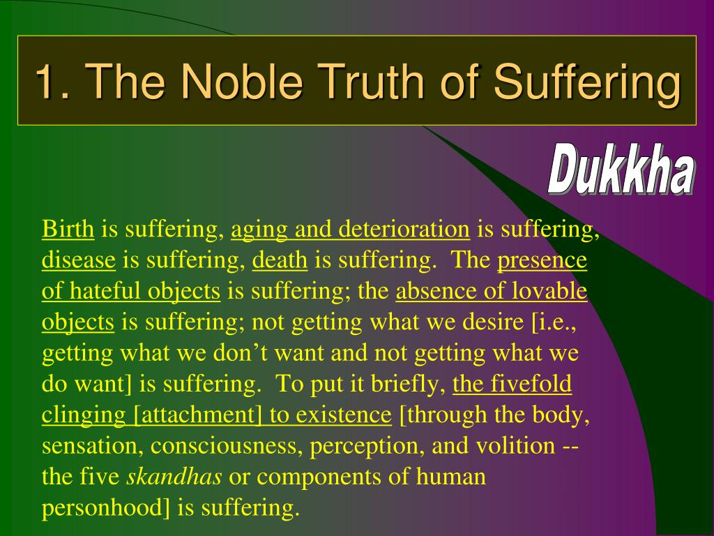 1. The Noble Truth of Suffering
