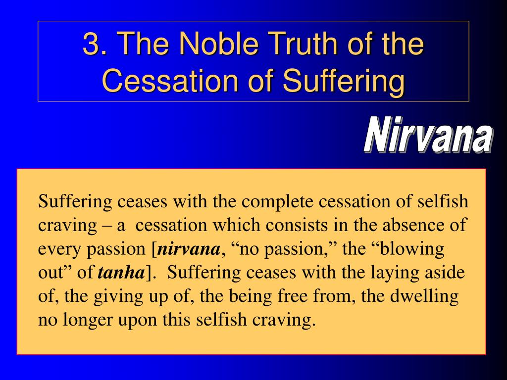 3. The Noble Truth of the Cessation of Suffering