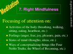 7 right mindfulness