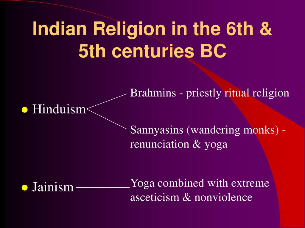 Indian Religion in the 6th & 5th centuries BC