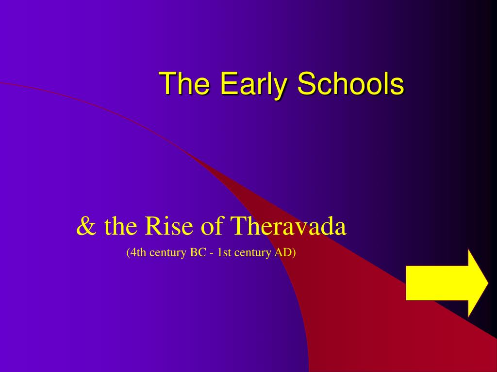 The Early Schools