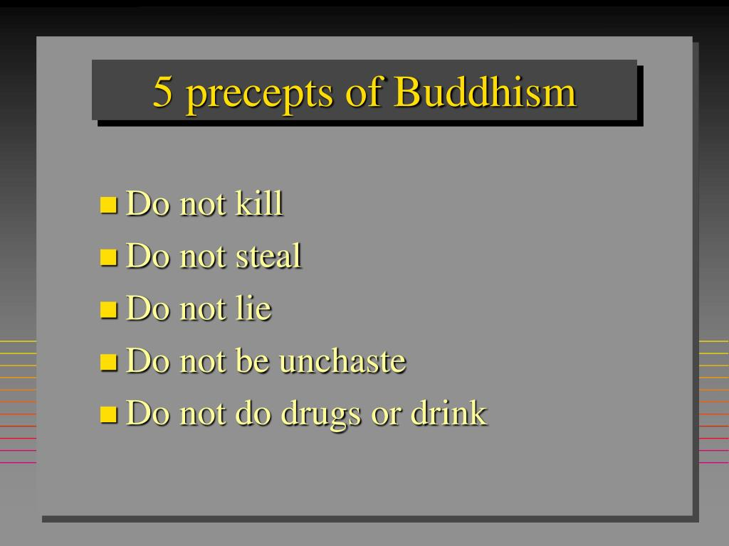 5 precepts of Buddhism