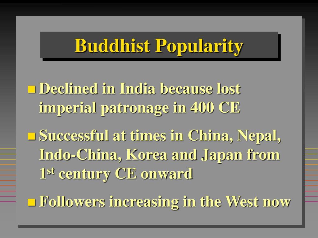 Buddhist Popularity