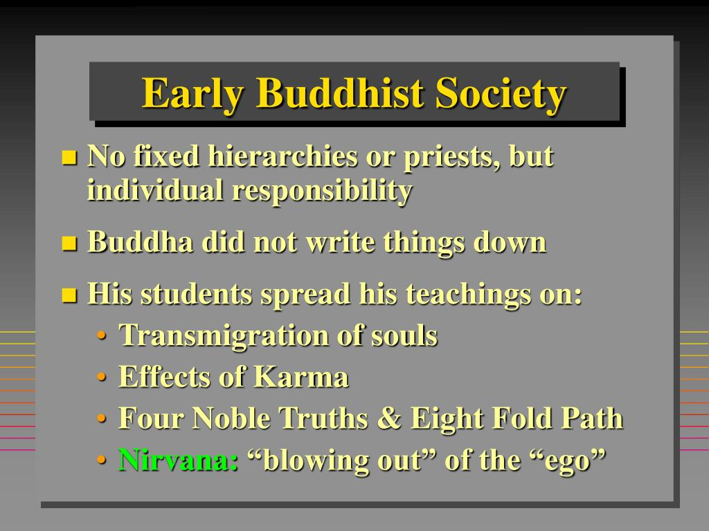 Early Buddhist Society