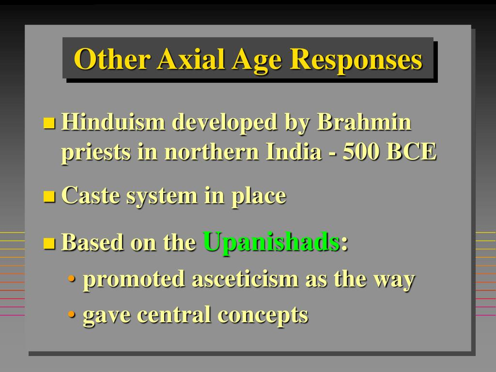 Other Axial Age Responses