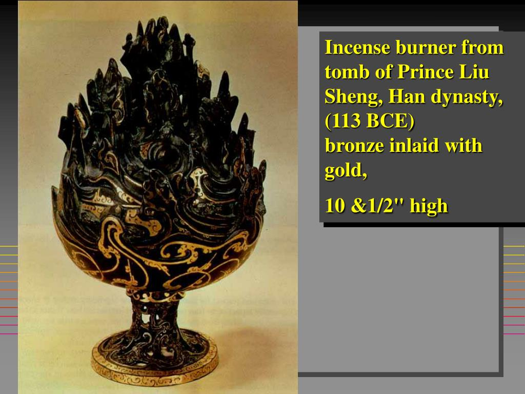 Incense burner from tomb of Prince Liu Sheng, Han dynasty, (113 BCE)