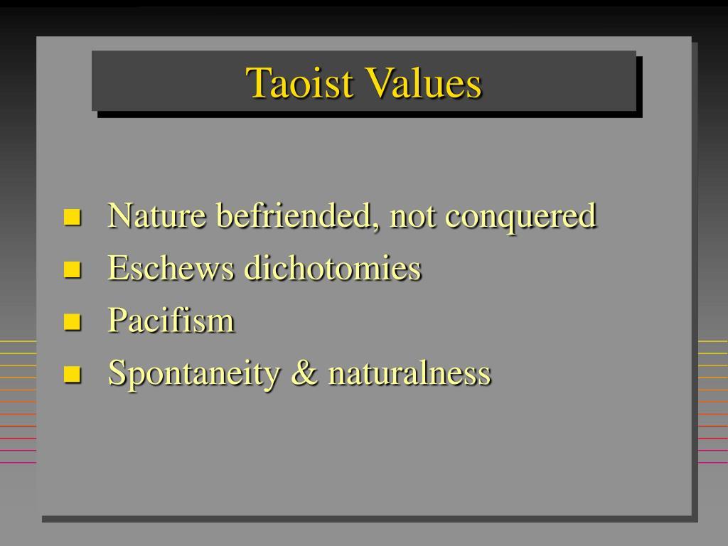 Taoist Values