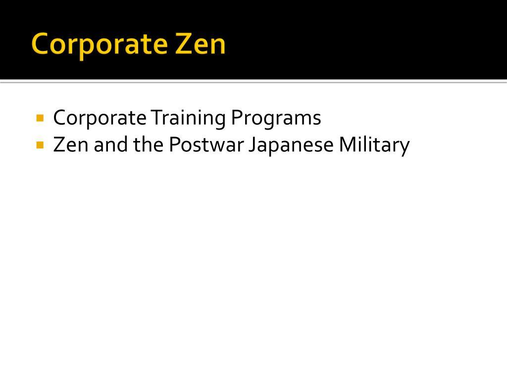 Corporate Zen