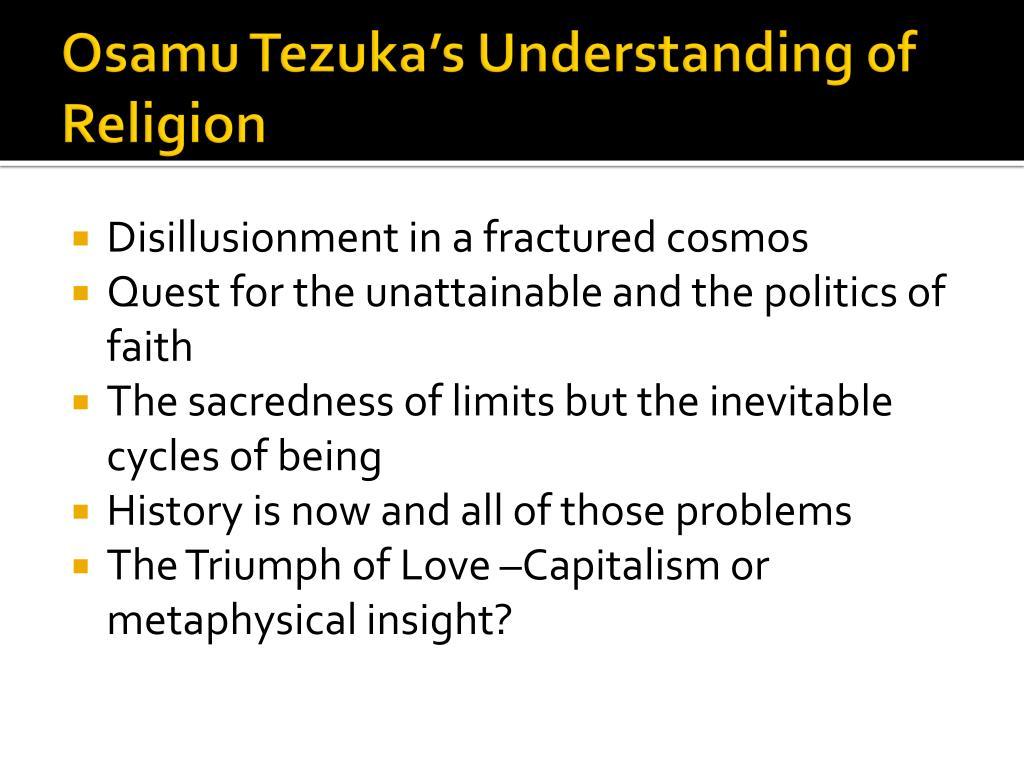 Osamu Tezuka's Understanding of Religion