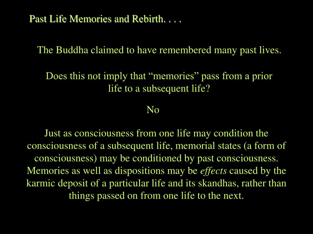 Past Life Memories and Rebirth. . . .