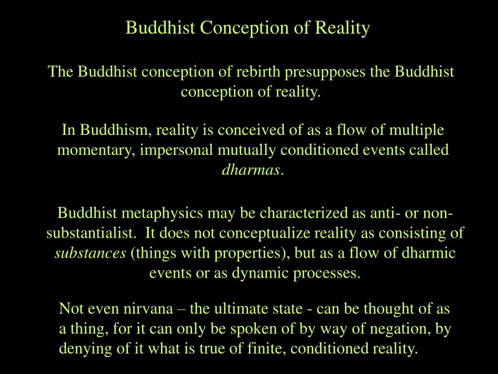 Buddhist Conception of Reality