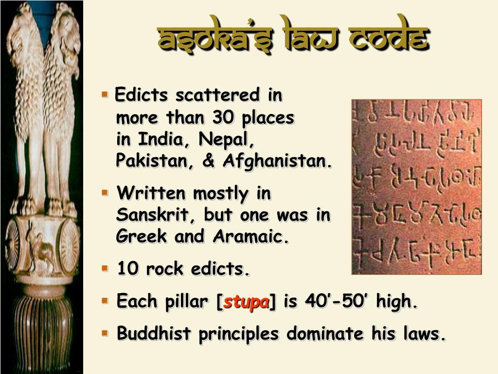 Asoka's law code