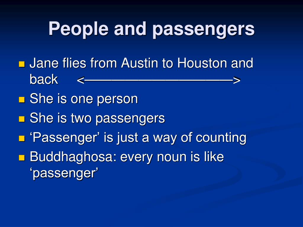 People and passengers