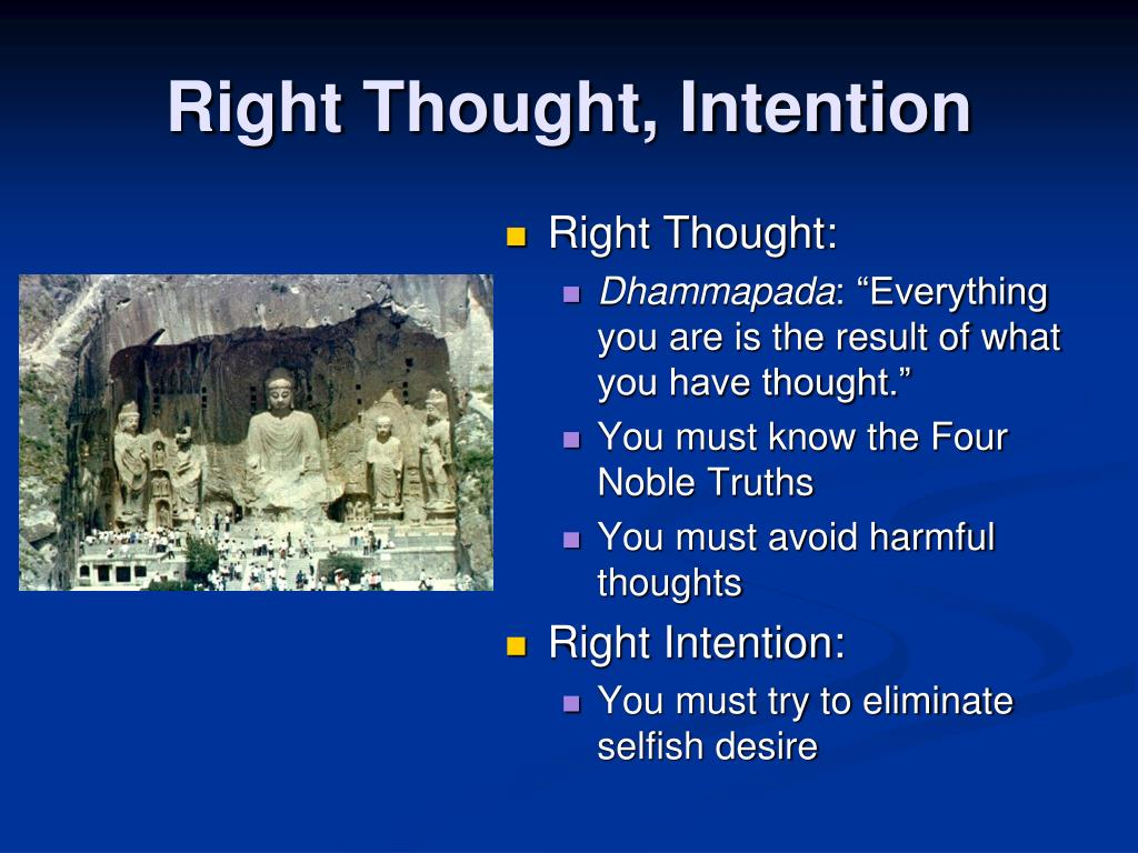 Right Thought, Intention