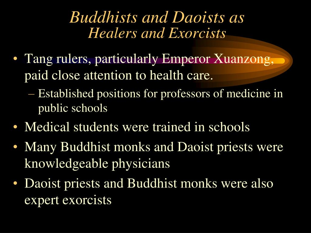 Buddhists and Daoists as