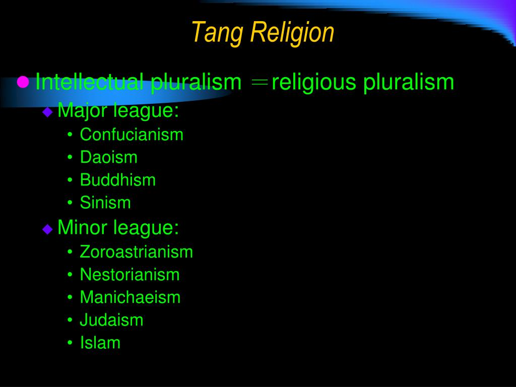 Tang Religion