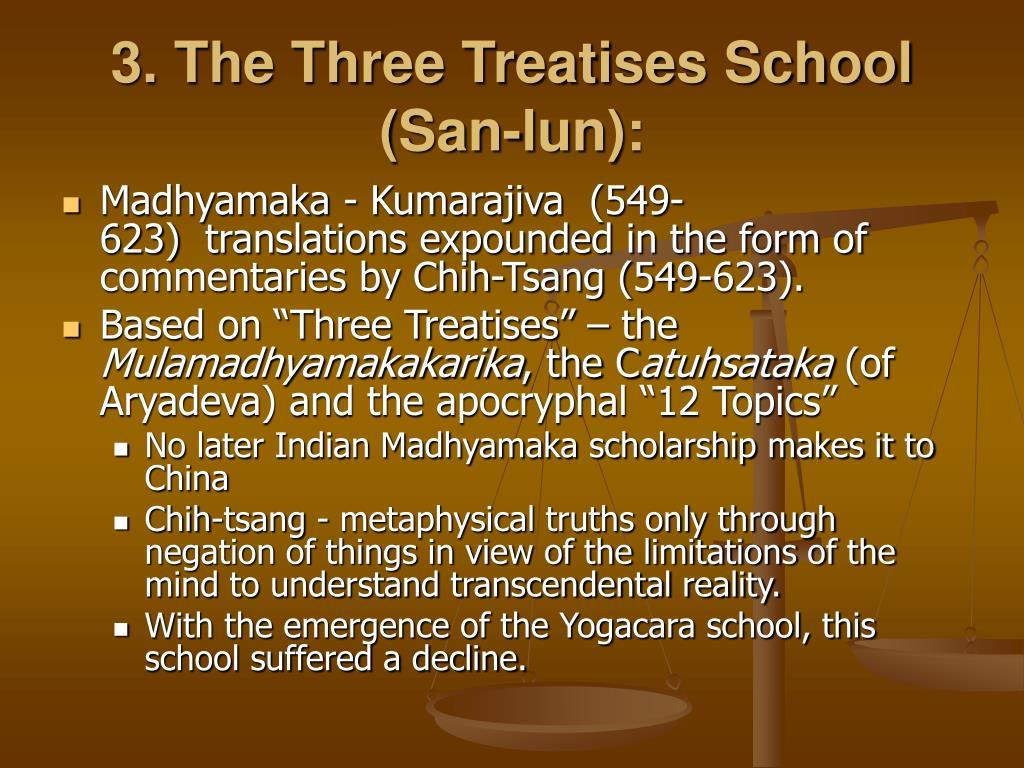 3. The Three Treatises School (San-lun):