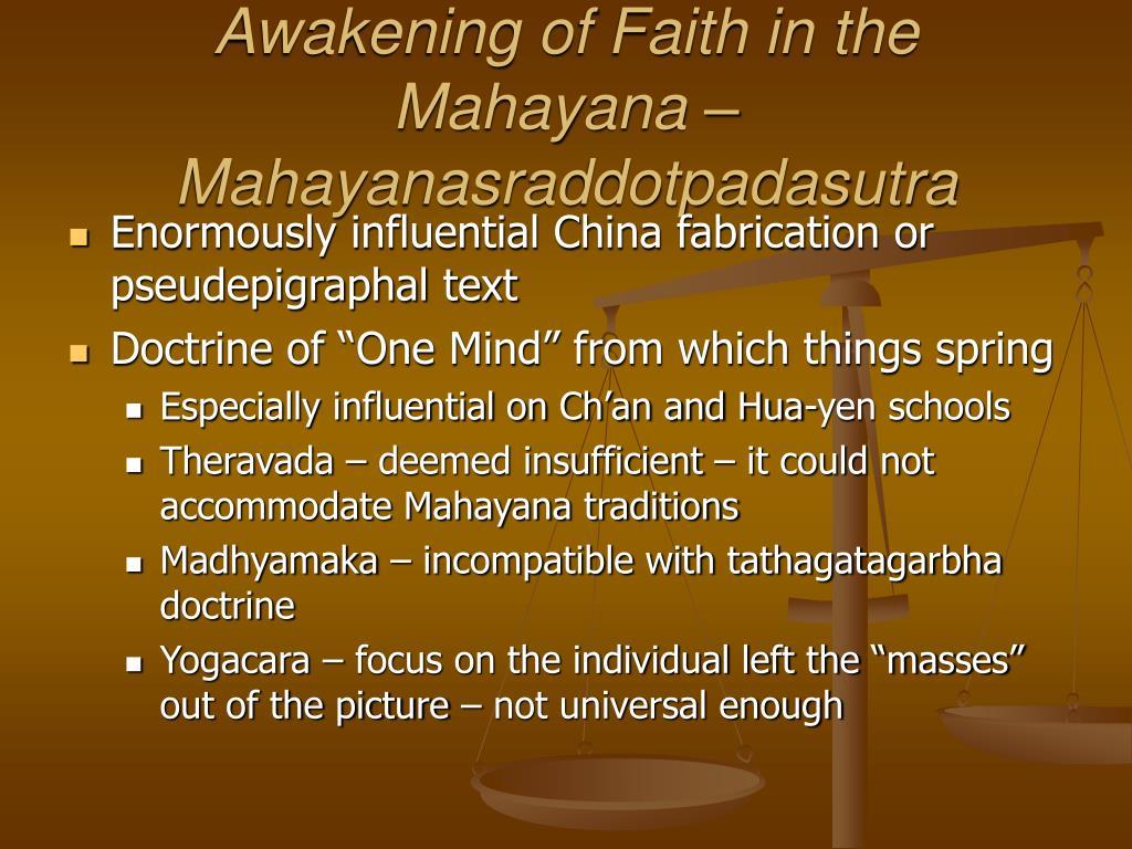 Awakening of Faith in the Mahayana – Mahayanasraddotpadasutra