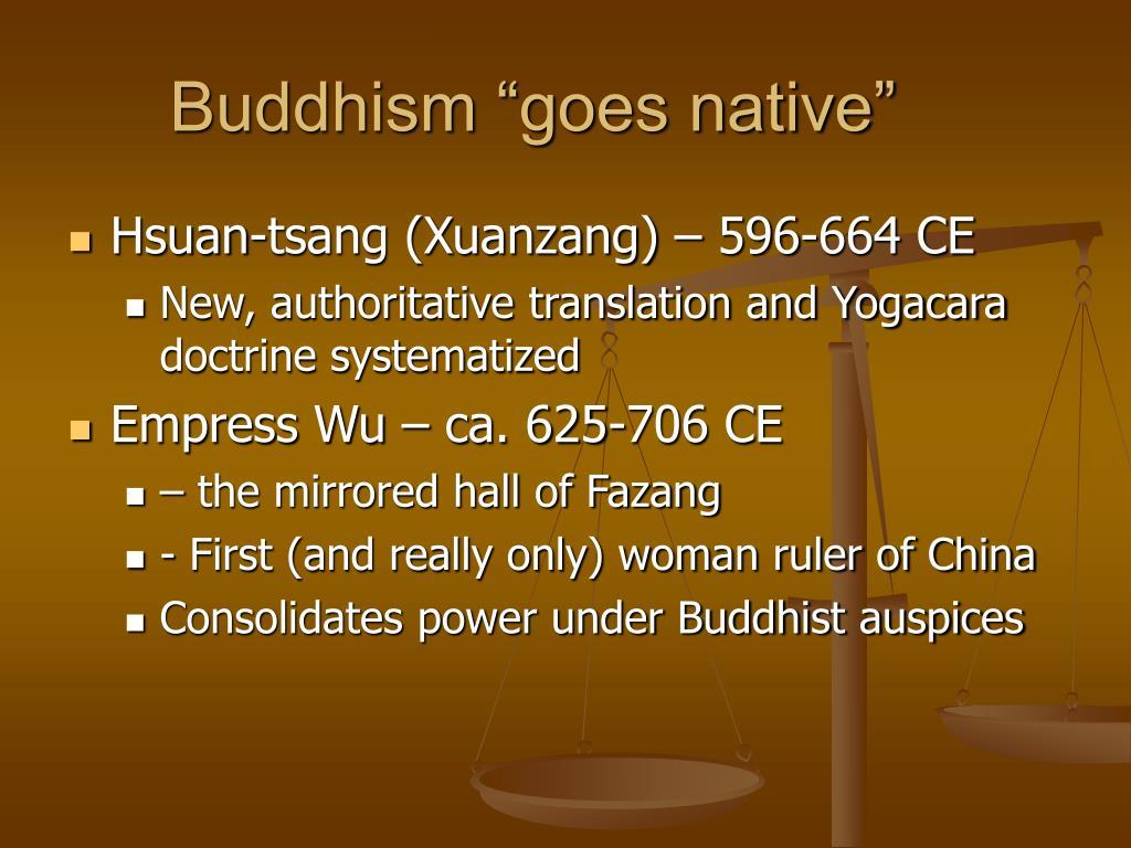 "Buddhism ""goes native"""