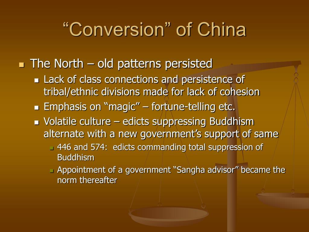 """""""Conversion"""" of China"""