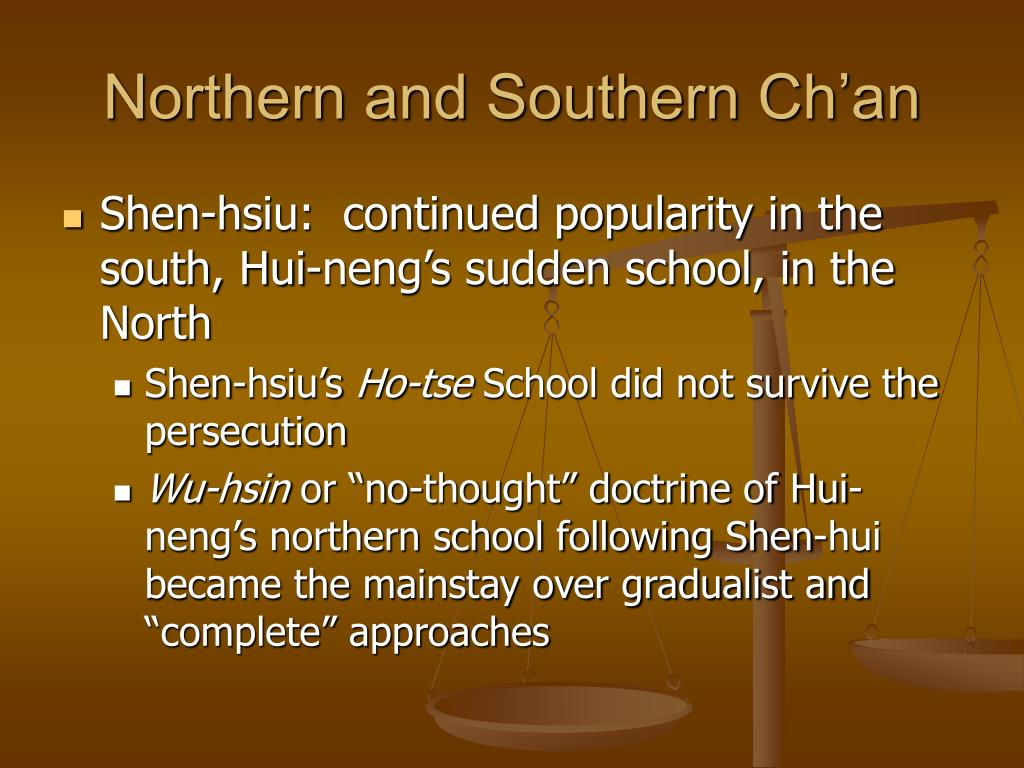 Northern and Southern Ch'an