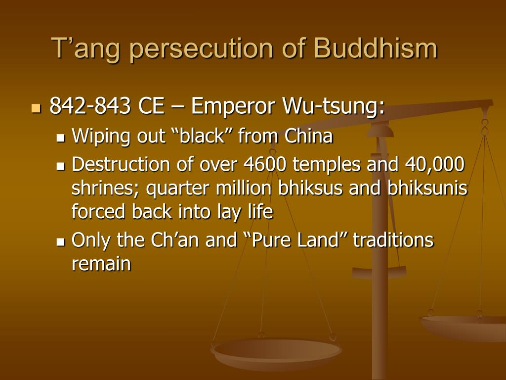 T'ang persecution of Buddhism
